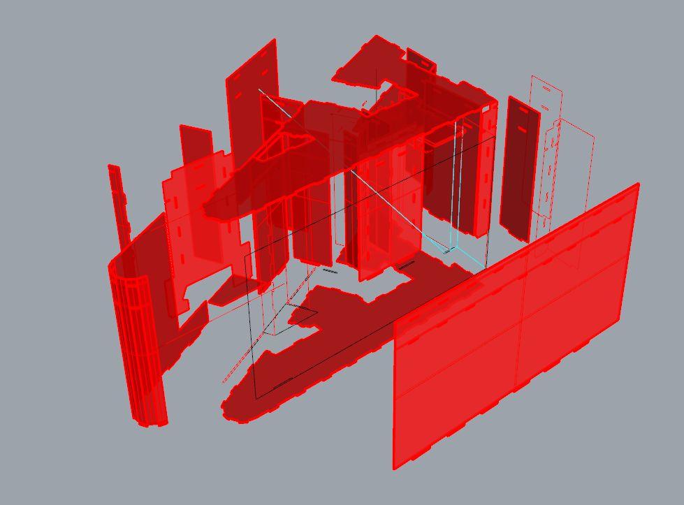 《胜者出局》折纸模型