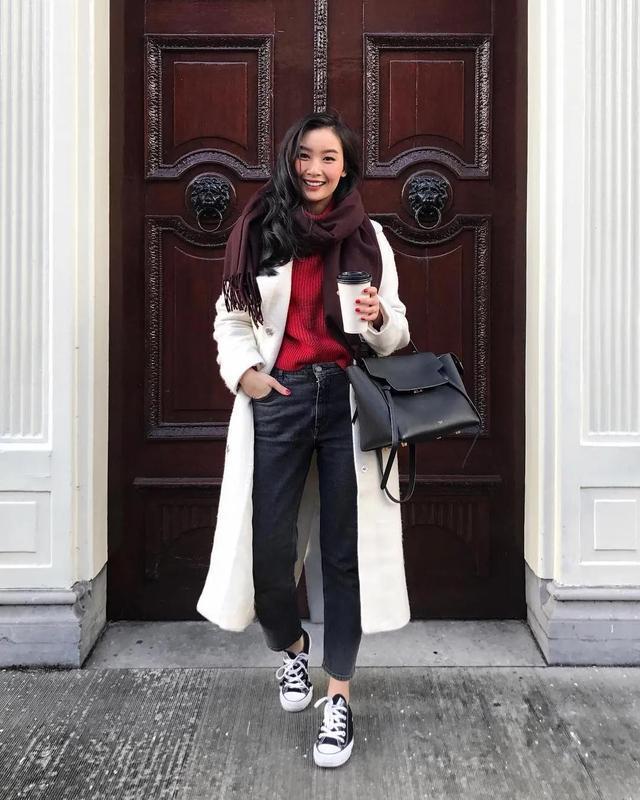 身高158的时尚博主,靠穿搭穿出1米7既视感,小个子也能照着买!_Nguyen