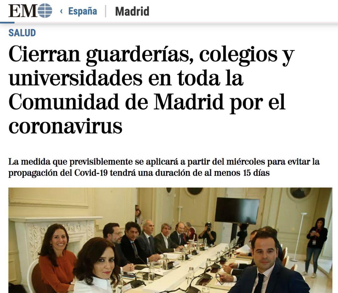 马德里关闭学校 西班牙马德里关闭所有学校!