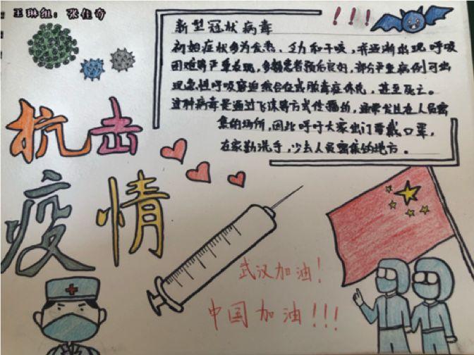 因此我画了这份手抄报,希望通过这种方式为奋战在一线的医护人员打