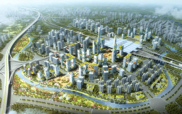 广州南站核心区规划效果图图片