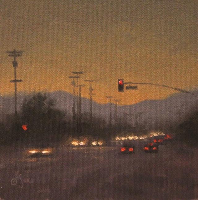 大兵艺术家Ezra笔下的城市街景