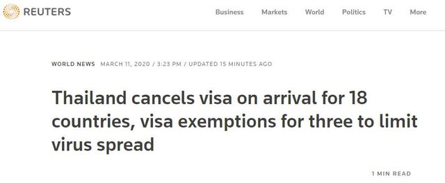 <b>持续关注 | 泰国暂停中国在内的18国落地签 中国严防疫情反向输入</b>