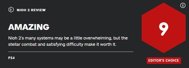 《仁王2》媒体评分解禁!IGN9分GameInformer8.5分