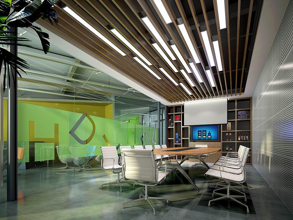 办公室装修中吊顶设计都有哪些选择种类?