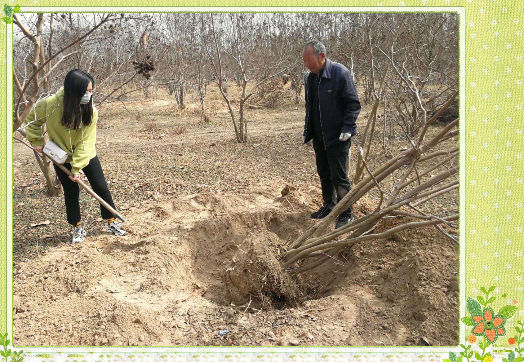 汴梁教育 开封市25中教工团支部开展植树节主题团日活动