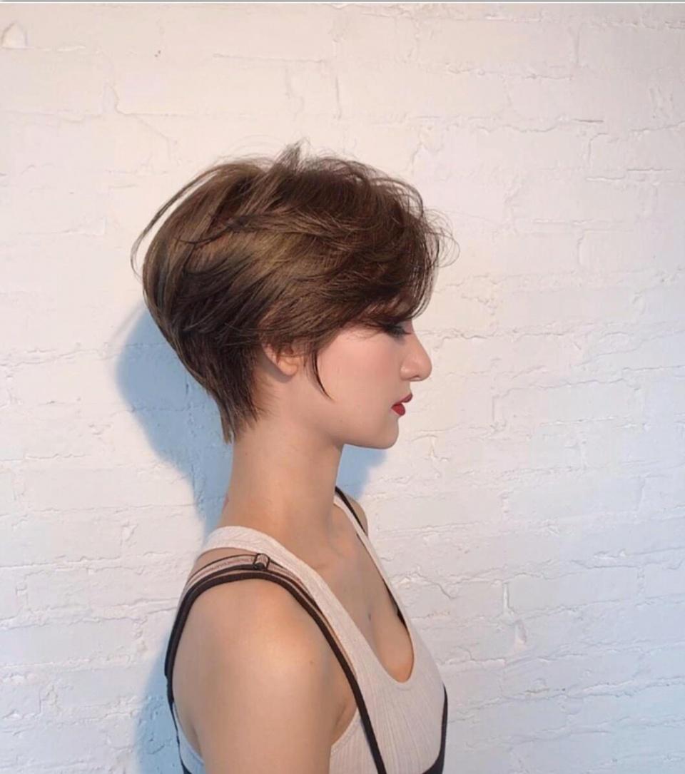 新时尚发型37款,立体短发,造型烫,大波浪,让你美到移