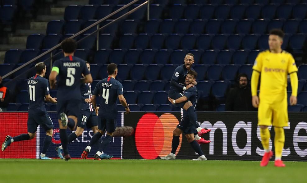欧冠-内马尔破门飞翼建功 巴黎总分3-2多特晋级
