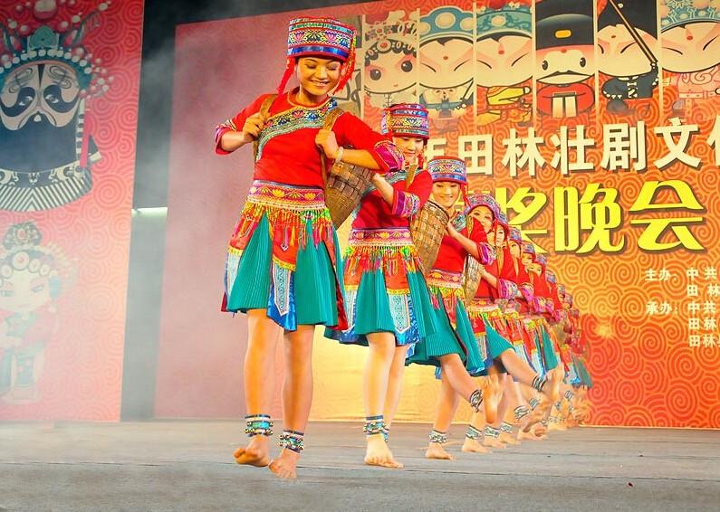 """看广西田林""""风流街""""的文化在传承"""