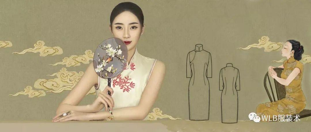 超級詳細的旗袍的紙樣制版和縫制工藝流程!(圖解)