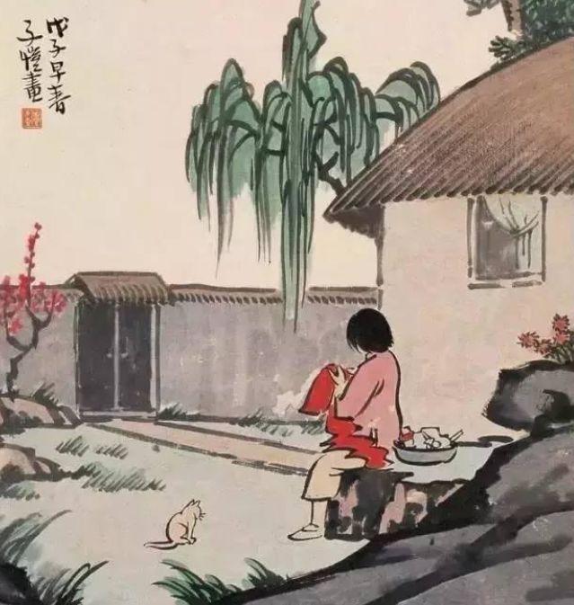 努力惜春華——豐子愷畫中的春天