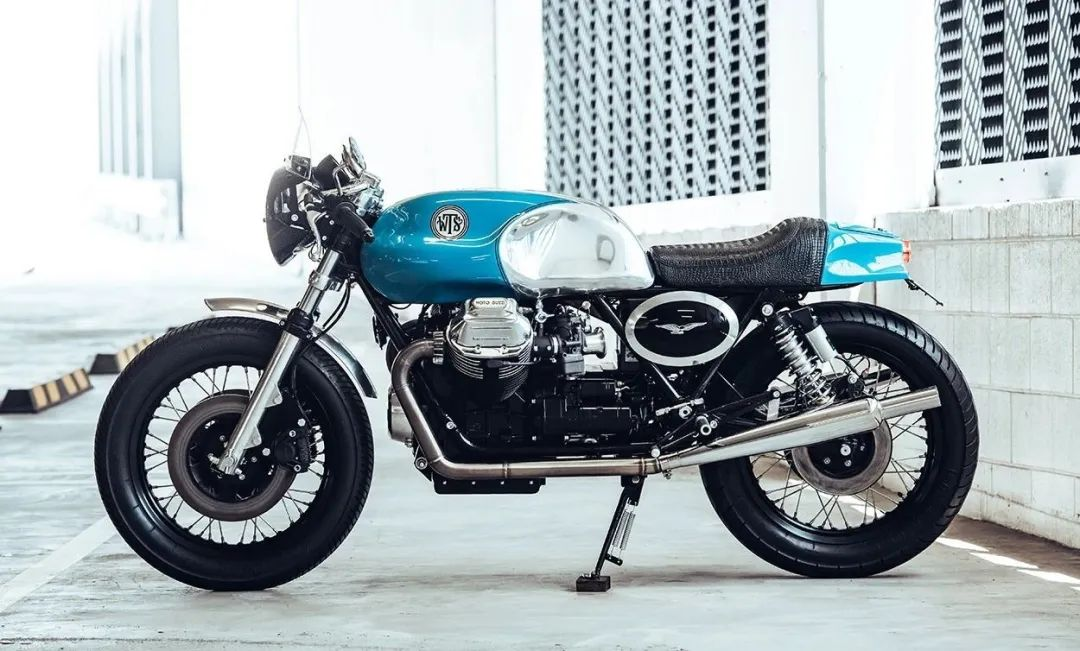 复古情怀如蓝天——Moto Guzzi 850 T3