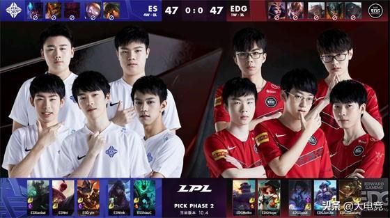 LOL-LPL:中期两度成功rush大龙,EDG2-0送给ES春季赛首败