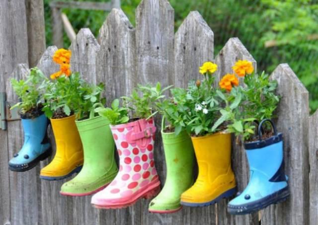 4.雨鞋变身花盆