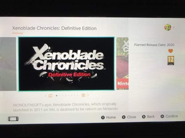 《异度神剑:终极版》上架eShop欧服发售日仍未公布_页面