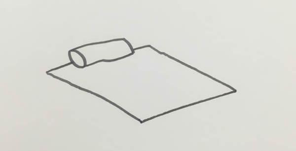 每天学一幅简笔画 卧室简笔画彩色画法步骤图片