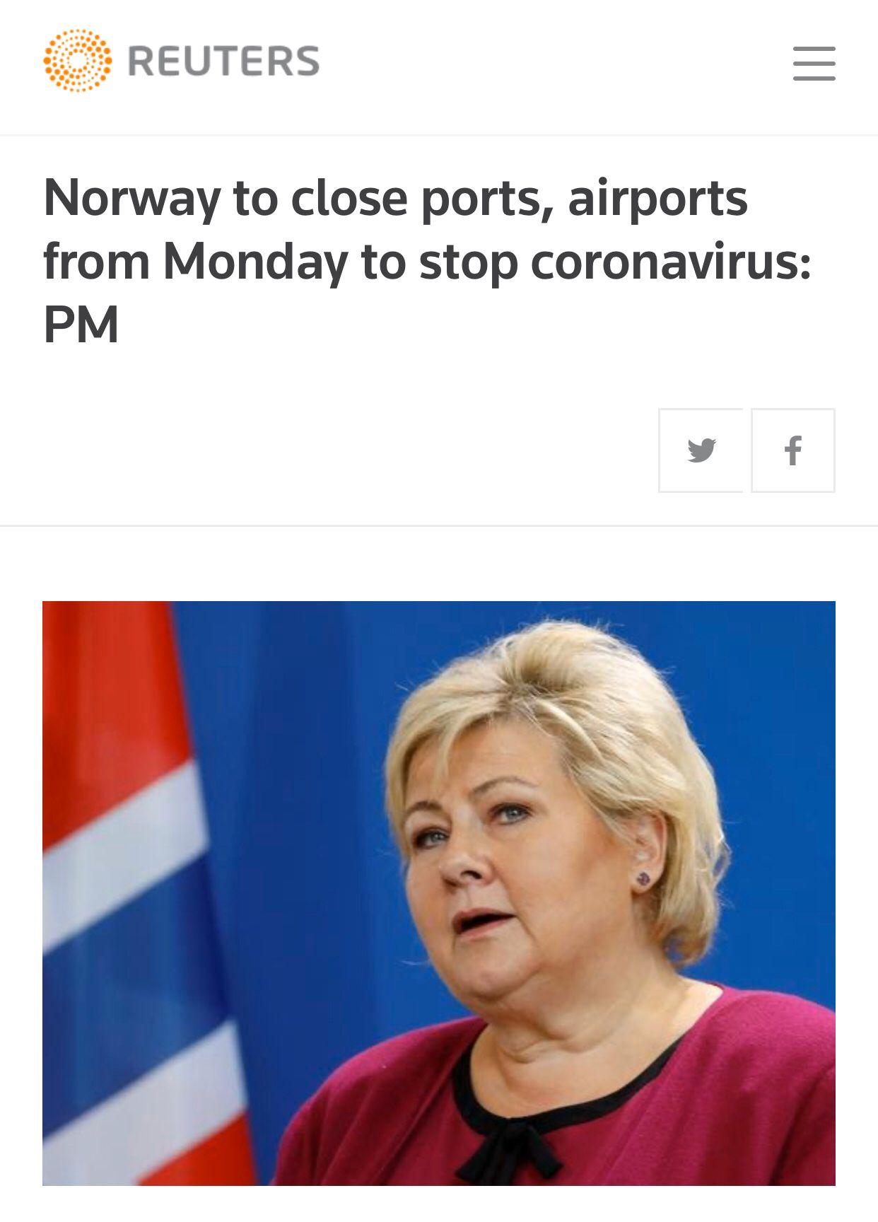 挪威将寻求从中国进口医疗物资 强化边境管理!