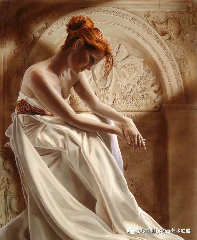 美国艺术家人体油画中那些丰满性感的西洋女子,撩动人心