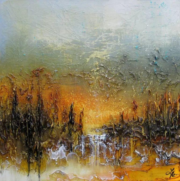 加拿大抽象主义艺术家劳拉·哈里斯绘画作品赏析