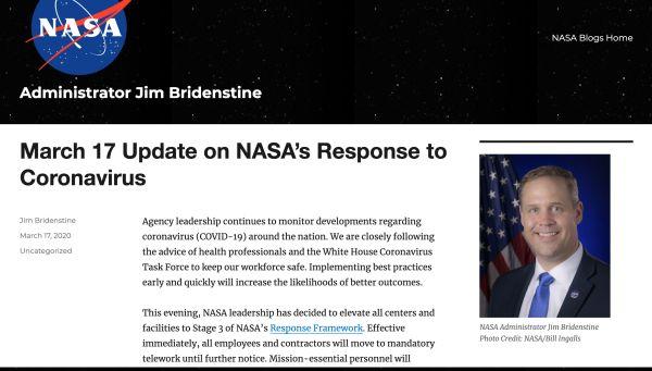 NASA出现确诊病例 网友:新冠的心大了想去闯宇宙!