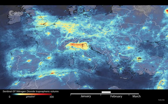 欧洲宇航局:疫情封锁让意大利空气污染有所下降