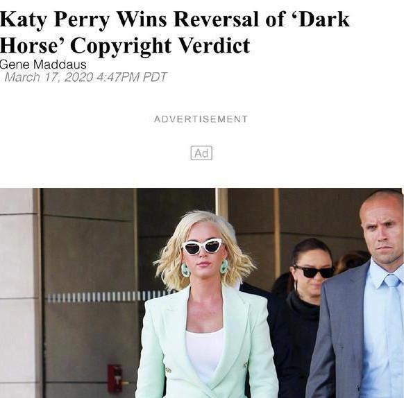 水果姐上訴成功 凱蒂·佩里為什么叫水果姐是什么意思?