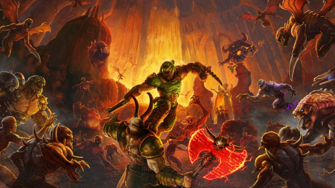 《毁灭战士:永恒》今日发售!在天堂和地狱间撕裂各种恶魔,为了荣誉而战斗!