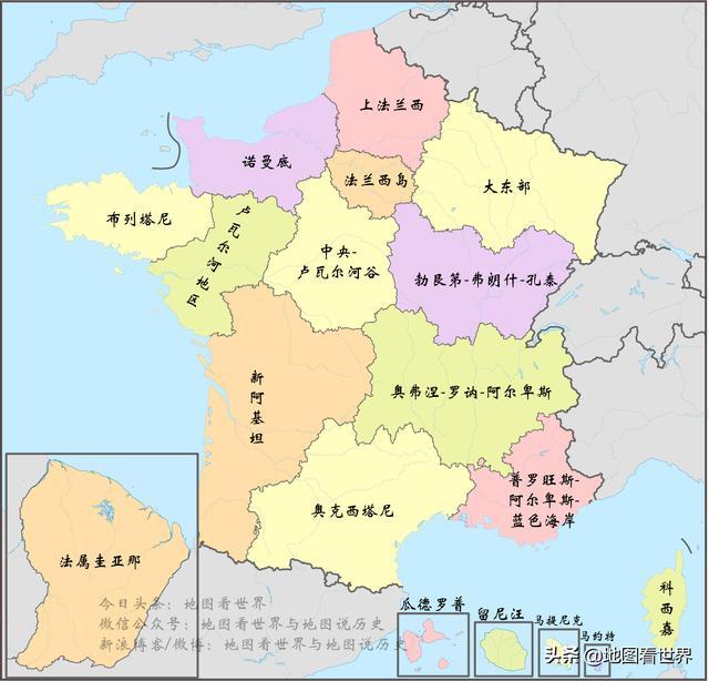 新冠肺炎疫情国家科普:法国地理概况与法国地图合集图片
