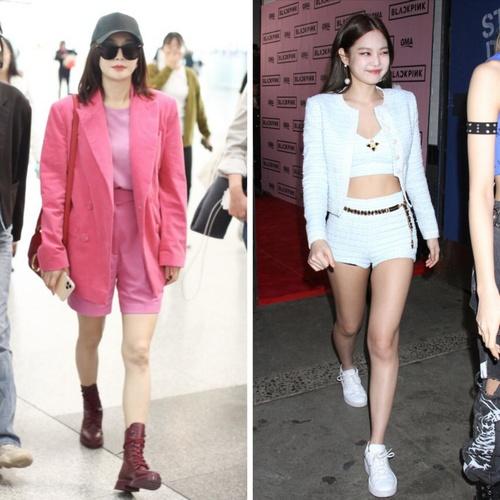 欧阳娜娜和Lisa的露腿西装才是春日必备!