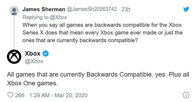 Xbox Series X发售时可向下兼容全部的Xbox One游戏