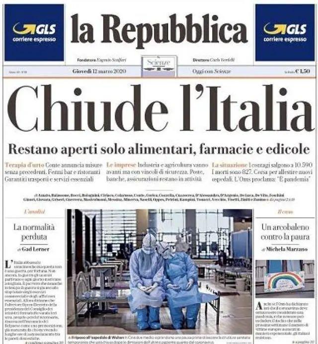 这两名女护士火了!登上意大利报纸头版