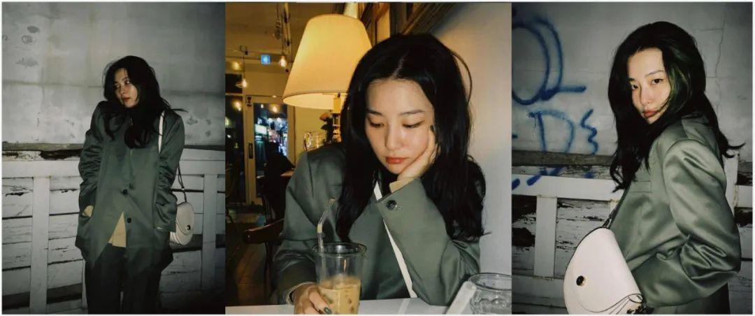 姜涩琪的胶片风写真及生活穿搭解析,可盐可甜真好看