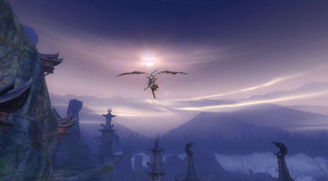 想要在游戏中体验不一样的飞行,《新神魔大陆》还能在空中世界互动