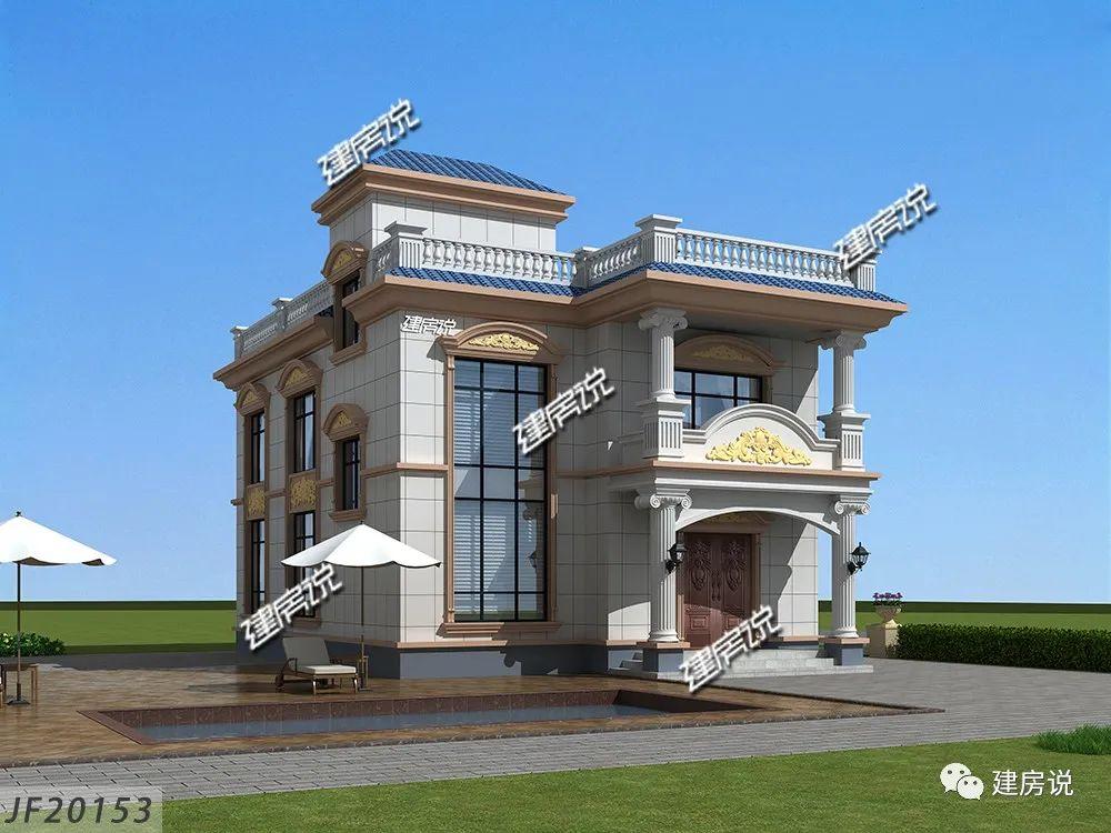 农村建房图纸:这款占地120平,30万欧式别墅,看完你心动了吗?
