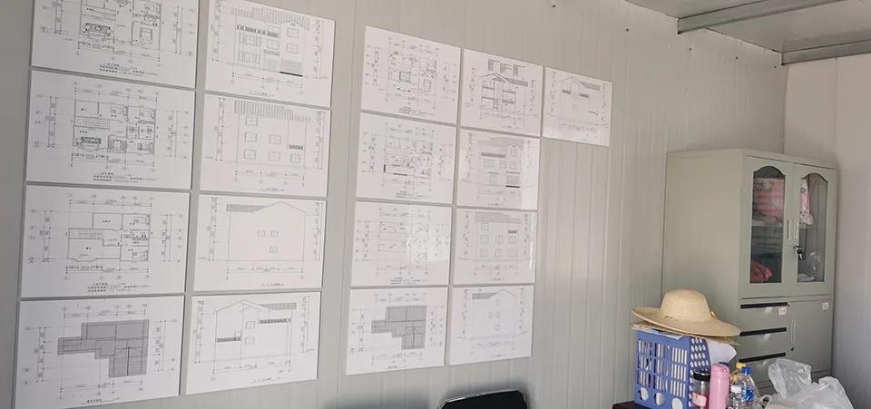 心力集团-项目部提供了多个轻钢房屋户型供村民选择