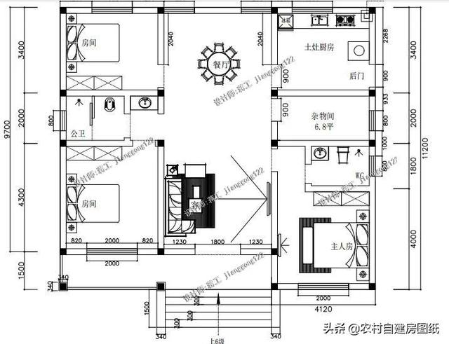 7款一层农村平房设计图,造价15万内,包你30年不过时