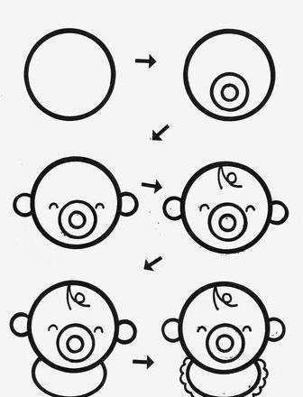 30秒教孩子学会画画,42幅简单又有趣的简笔画,限时领取