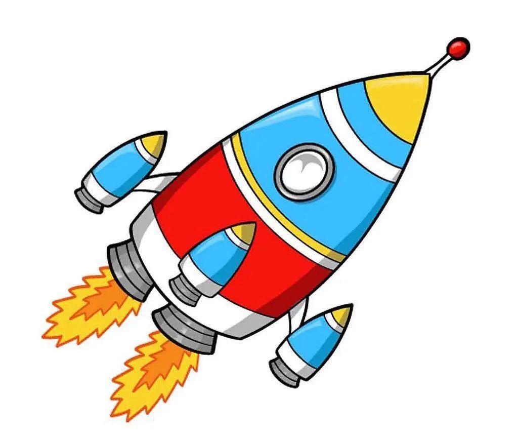 火箭简笔画图片 儿童火箭简笔画大全