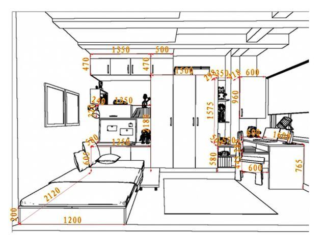 定制衣柜尺寸+设计详解!附尺寸图纸,简单明了一步到位