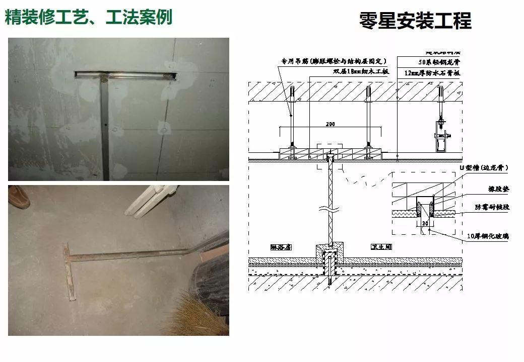 精装修全过程施工工艺做法图解,100页PPT