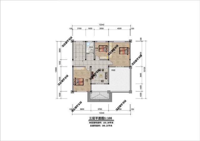24米 建造预算 :38万左右 别墅图纸 下图是武汉某先生家的别墅实景图