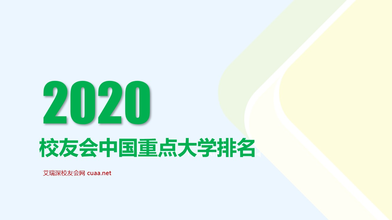 2020年中國重點大學排名公布,華中科技大學躋身前7強