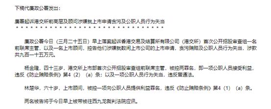 fx4100港交所IPO舞弊案新进展!贪污915万港元,前高层杨金隆及顾问被起诉
