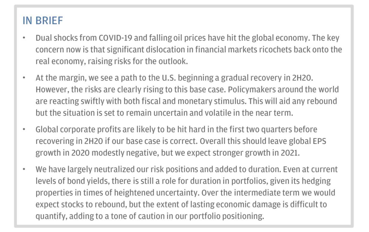 摩根研报:美国股市大跌引发政策刺激 但长期经济损失程度难以量化
