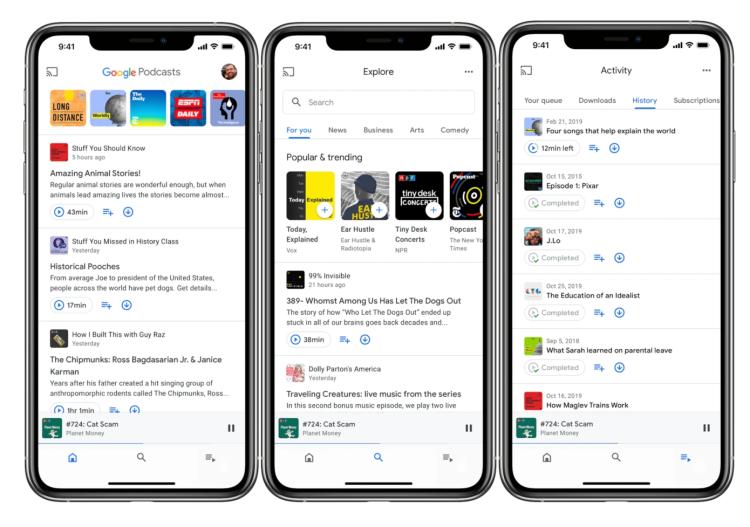 Google Podcasts已在iOS的AppStore中上架