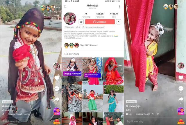 VMate■5岁印度女孩当网红 在VMate圈粉百万,