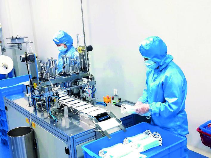 河津首条口罩生产线投产
