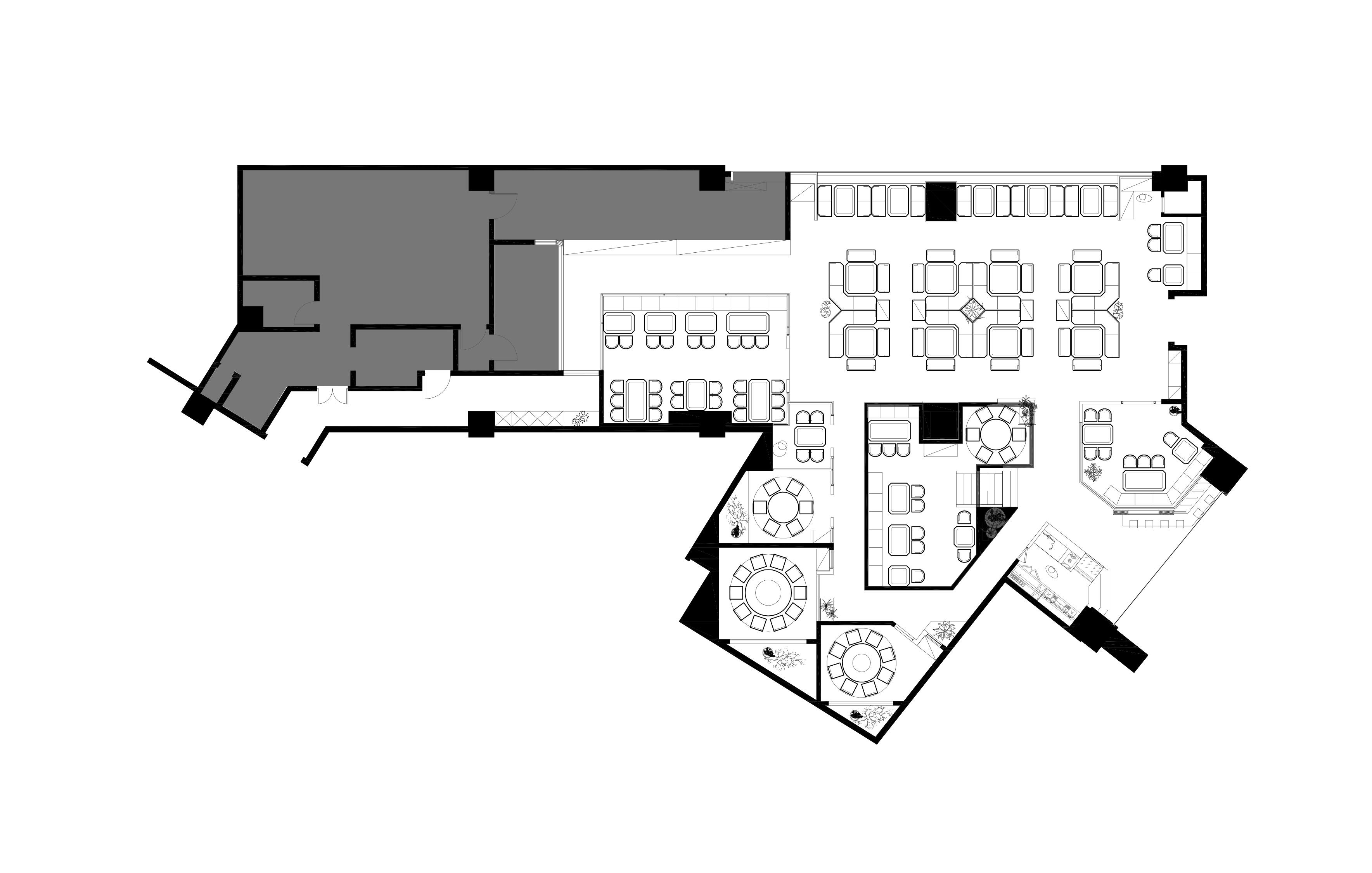 餐饮空间设计-平面图