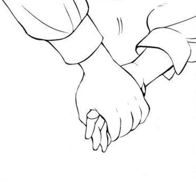 手绘情侣牵手简笔画 12张 2 情侣图片 表白图片网
