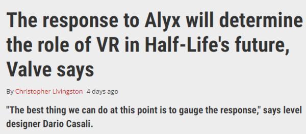 V社不确定《半条命》新续作是何类型 取决于玩家反馈
